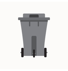 Waste sorting garbage bin isolated vector