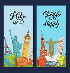 world sights flyer templates for travel vector image