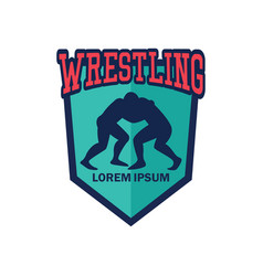 Wrestling logo with text space for your slogan vector