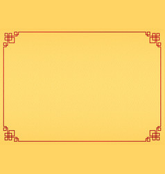 yellow chinese fan abstract background vector image