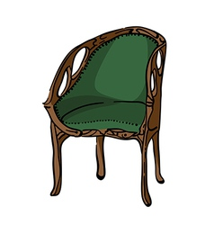 1900 style decorated armchair vector image vector image