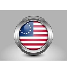 American betsy ross flag metal and glass round ico vector