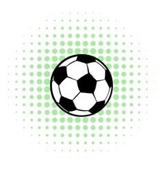 Football ball icon comics style vector image