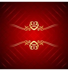 Red gold luxury background vector image