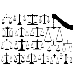 Set of different scales vector image vector image
