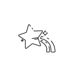 thin line star icon vector image vector image