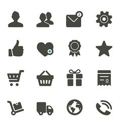 Universal icons set 1 vector image