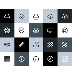 Wireless network icons Flat vector image vector image