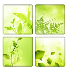 Eco background collection vector image