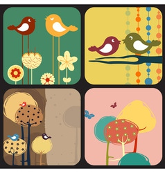 of style design greeting cards vector image vector image