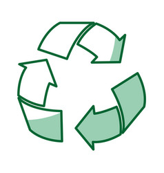Arrows recycle ecology symbol vector
