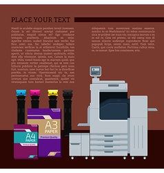 Digital print text template vector image vector image