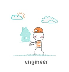 engineer keeps the house vector image vector image