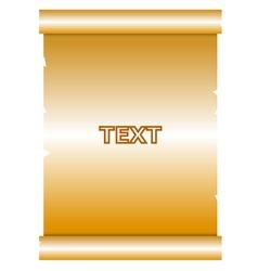 gold manuscript vector image