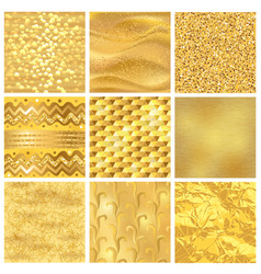 golden background or gold texture pattern vector image