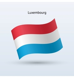 Luxembourg flag waving form vector image
