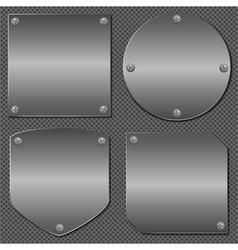 Metal Boards vector image vector image