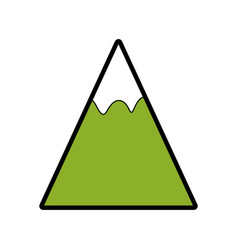 mountain landscape nature vector image