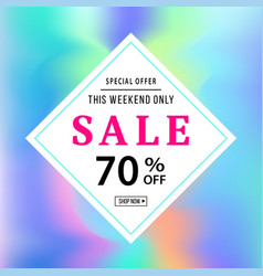 sale banner template for online shopping vector image vector image