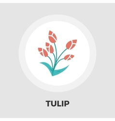 Tulip icon flat vector image vector image