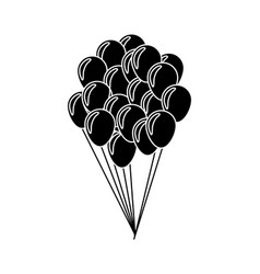 balloons flying decoration national party vector image