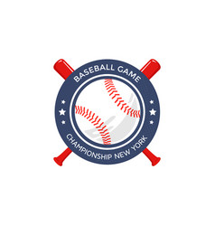 baseball logo emblem vector image vector image