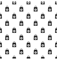 Black Friday shopping bag pattern simple style vector image