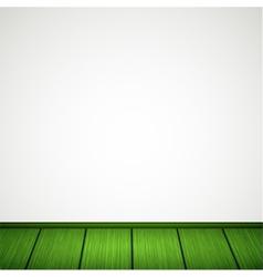 wall with wooden floor vector image