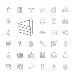 33 traditional icons vector