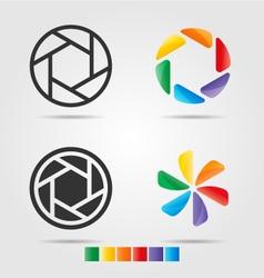 4 Logo template set vector image