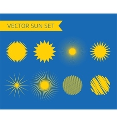 Abstract logo elements Sun vocation vector image
