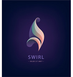 abstract swirl logo design icon concept vector image