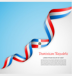 banner in white and blue colors and waving vector image