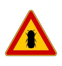Bark beetle warning sign vector
