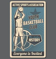 Basketball youth sports club association vector