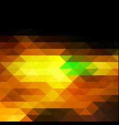 Black brown yellow green rows of triangles vector