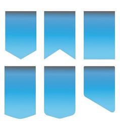 blue ribbon set on white background blue ribbon vector image