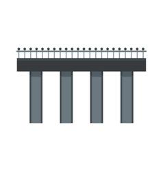 Bridge with steel railings icon flat style vector image