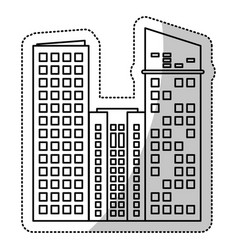 Building facade estate cut line vector