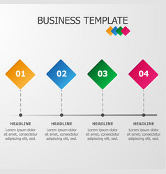 Business template timeline vector