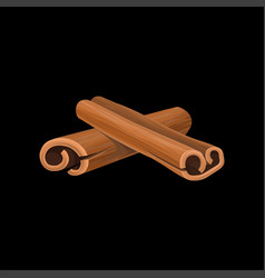 Cinnamon sticks fragrant spice vector