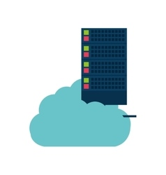 cloud data media server technology vector image