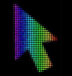 Colored dotted mouse cursor icon vector