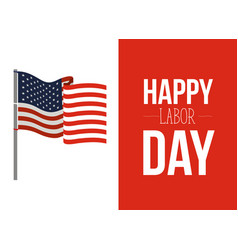 colorful banner of celebrate happy labor day with vector image