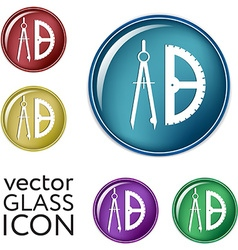 compass and protractor Education sign vector image