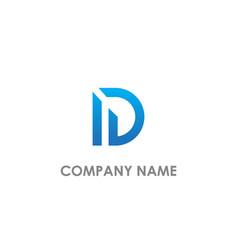 d shape line logo vector image