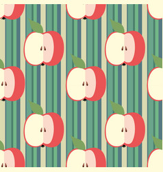 Decorative seamless background with stripes vector