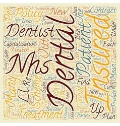 Dental Insurance The Nhs In Dental Shambles text vector