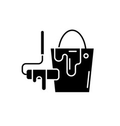 design works black icon sign on isolated vector image