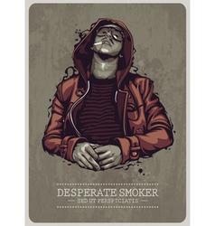 Desperate Smoker vector